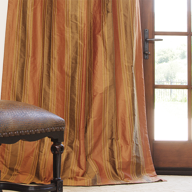Roma Copper Dupioni Stripe